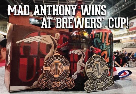 Mad Anthony wins at the 2018 Brewers' Cup